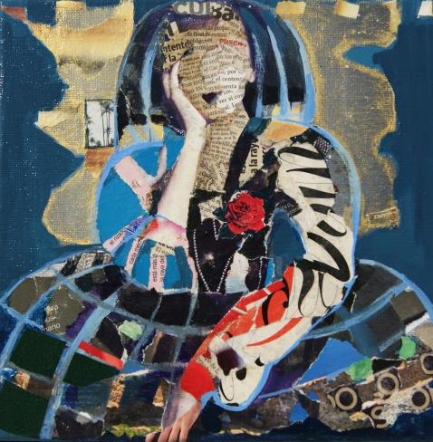 Ina Minduz - obra - Menina collage